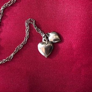 """Jewelry - 15.25"""" Chain Necklace with 2 Hearts"""